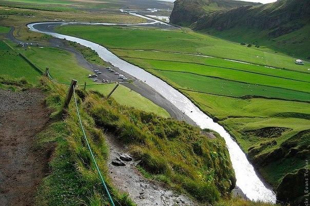 Водопад Скогафосс, Исландия. Водопад Скогафосс, Исландия 3