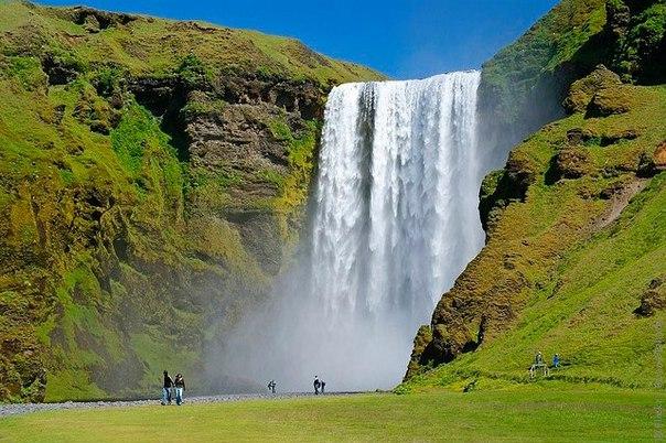 Водопад Скогафосс, Исландия. Водопад Скогафосс, Исландия 4