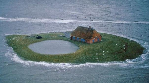 Халлиги - временные острова у побережья Северного моря. Халлиги - временные острова у 4