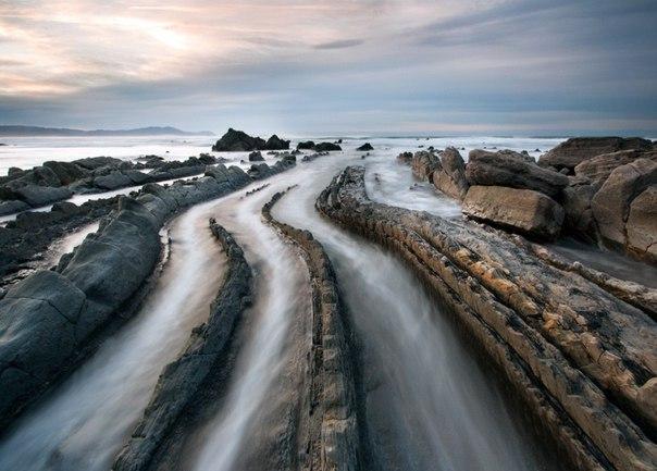 Турбидиты на побережье города Баррика (Испания). Турбидиты на побережье города 4