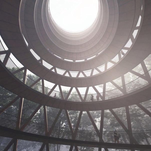 Спиральная башня для пеших прогулок. Спиральная башня для пеших 1