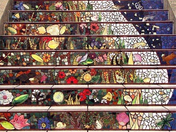 Мозаичная лестница. Мозаичная лестница 1