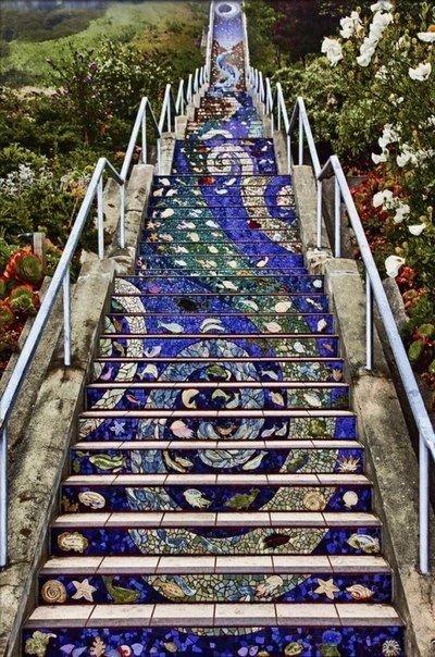Мозаичная лестница. Мозаичная лестница 2