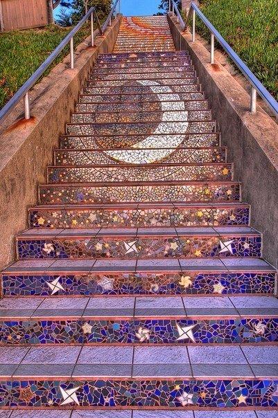 Мозаичная лестница. Мозаичная лестница 4