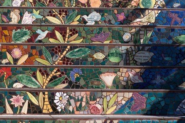 Мозаичная лестница. Мозаичная лестница 6