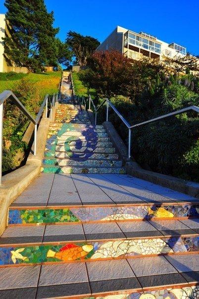 Мозаичная лестница. Мозаичная лестница 8