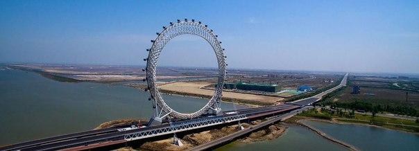 В Китае появилось безосевое колесо обозрения. В Китае появилось безосевое 5
