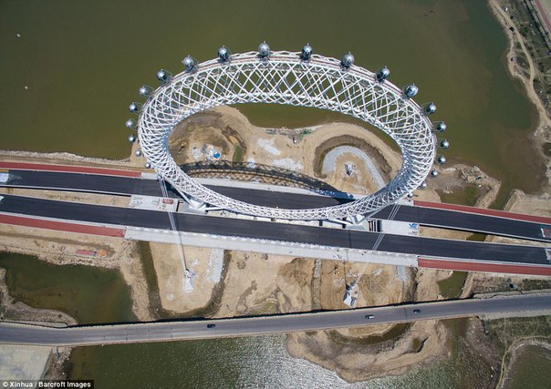 В Китае появилось безосевое колесо обозрения. В Китае появилось безосевое 6
