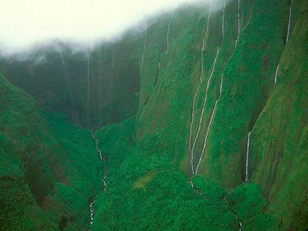 Водопад Хонокохау — доисторические пейзажи эпохи динозавров. Водопад Хонокохау — 7
