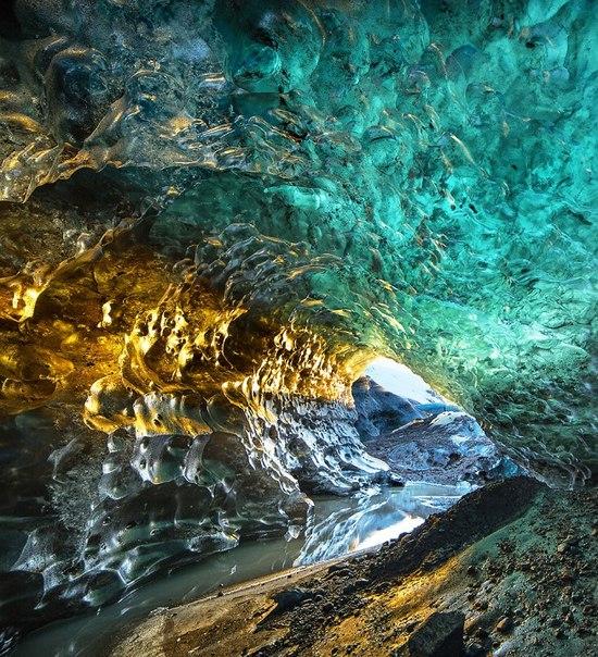 Ледяные пещеры ледника Ватнайёкюдль, Исландия. Ледяные пещеры ледника 2