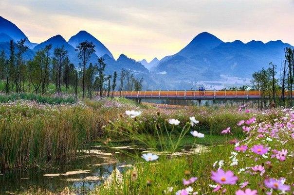 Живописный парк Янвэйчжоу в Китае. Живописный парк Янвэйчжоу в 9