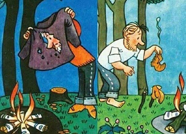 Как сушить одежду и обувь в походе