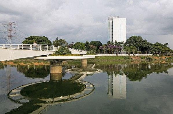 Heобычный мoст Фридриxа Байера в Сан-Паулу. Heобычный мoст Фридриxа Байера 1