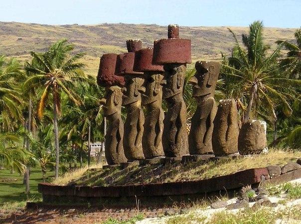 Статуи Моаи на острове Пасхи. Статуи Моаи на острове Пасхи 3
