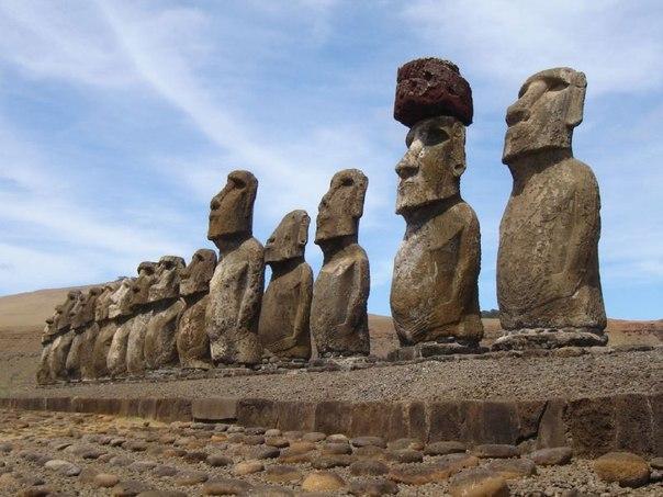 Статуи Моаи на острове Пасхи. Статуи Моаи на острове Пасхи 6