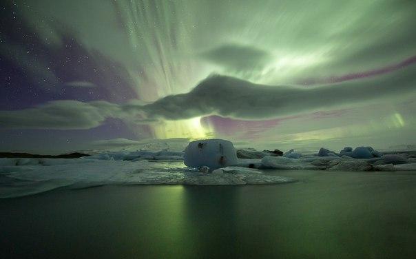 Ледниковое озеро Йокульсарлон в Исландии. Ледниковое озеро Йокульсарлон 1