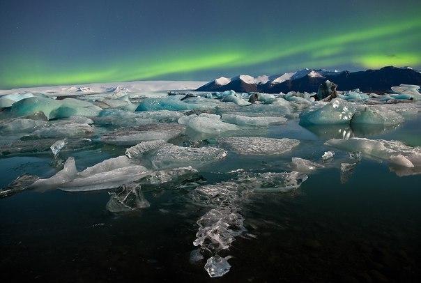 Ледниковое озеро Йокульсарлон в Исландии. Ледниковое озеро Йокульсарлон 5
