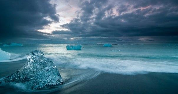Ледниковое озеро Йокульсарлон в Исландии. Ледниковое озеро Йокульсарлон 6