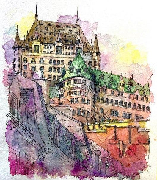 Акварельные путешествия: художник рисует города, в которых мечтает побывать. Акварельные путешествия 1