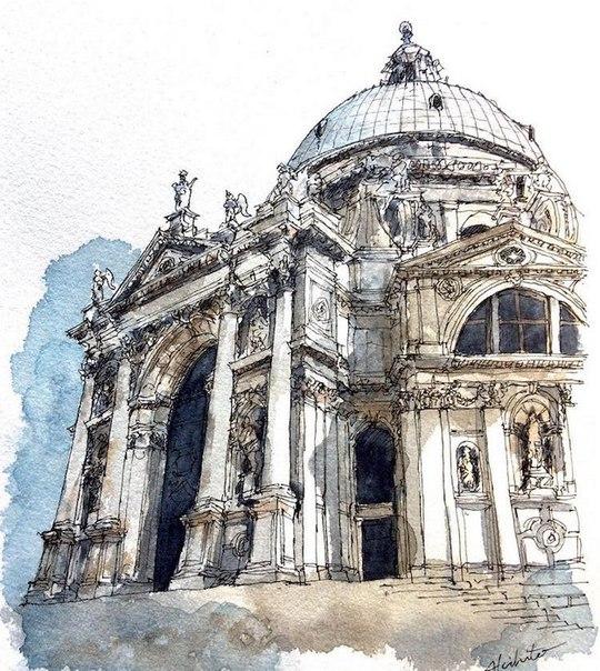 Акварельные путешествия: художник рисует города, в которых мечтает побывать. Акварельные путешествия 2