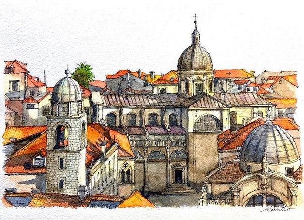 Акварельные путешествия: художник рисует города, в которых мечтает побывать. Акварельные путешествия 3