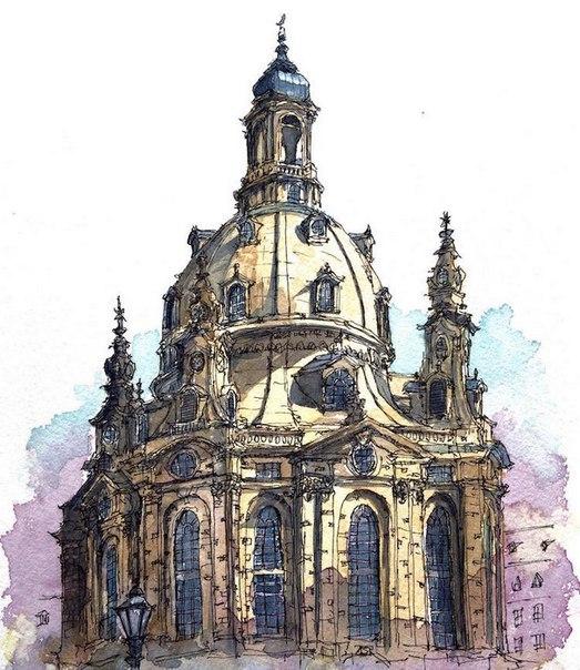 Акварельные путешествия: художник рисует города, в которых мечтает побывать. Акварельные путешествия 4