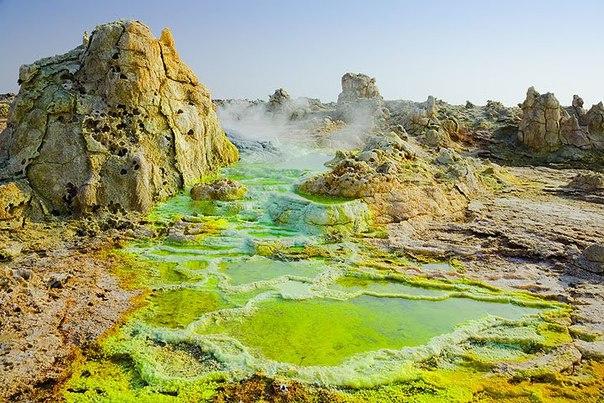 Неземные пейзажи вулкана Даллол (Эфиопия). Неземные пейзажи вулкана 3