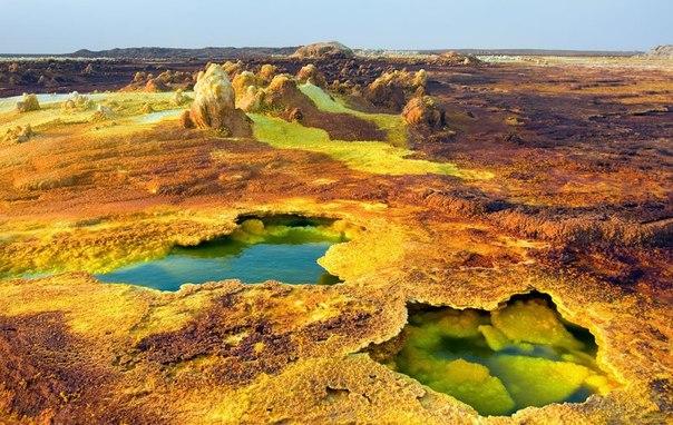Неземные пейзажи вулкана Даллол (Эфиопия). Неземные пейзажи вулкана 5