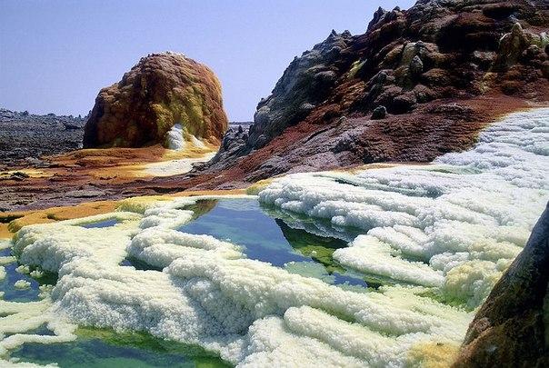 Неземные пейзажи вулкана Даллол (Эфиопия). Неземные пейзажи вулкана 6