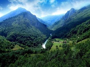 Река Тара в парке Дурмитор, Черногория