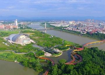 Живописный парк Янвэйчжоу в Китае